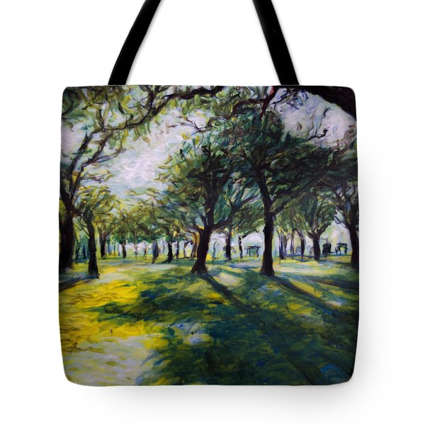 Park Trees Tote Bag by Ron Richard Baviello