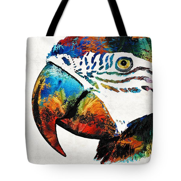 Parrot Head Art By Sharon Cummings Tote Bag by Sharon Cummings