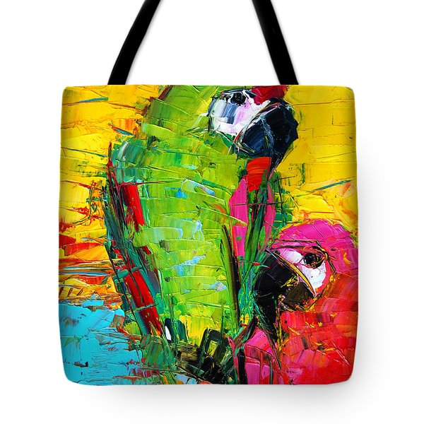 Parrot Lovers Tote Bag by Mona Edulesco