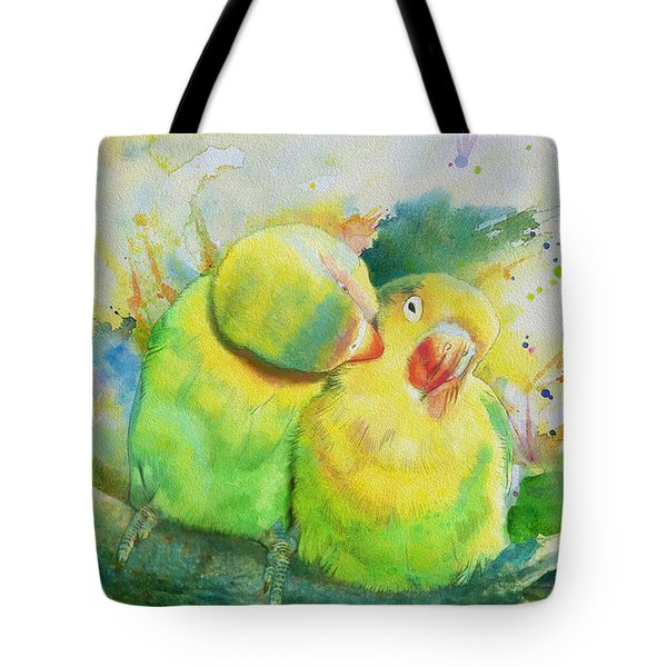 Parrots Tote Bag by Catf