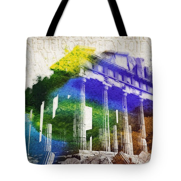 Parthenon Tote Bag by Aged Pixel
