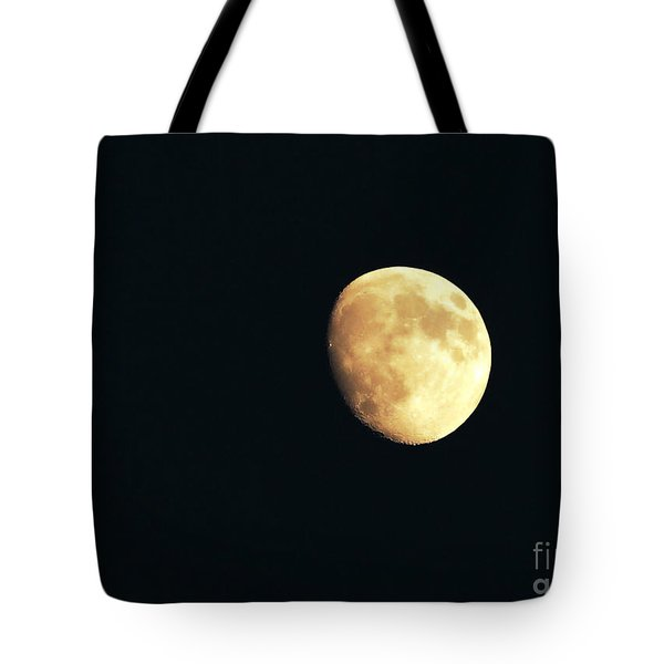 Partial moon Tote Bag by Claudia Mottram