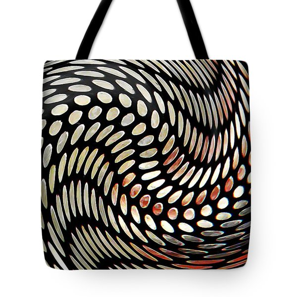 Particles In Curved Space Tote Bag by Sarah Loft