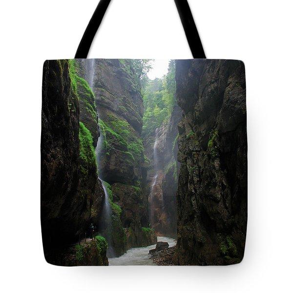 Partnachklamm Impression II Tote Bag by Hannes Cmarits