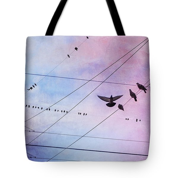 Party Line Tote Bag by Amy Tyler