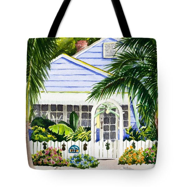 Pass-a-grille Cottage Watercolor Tote Bag by Michelle Wiarda