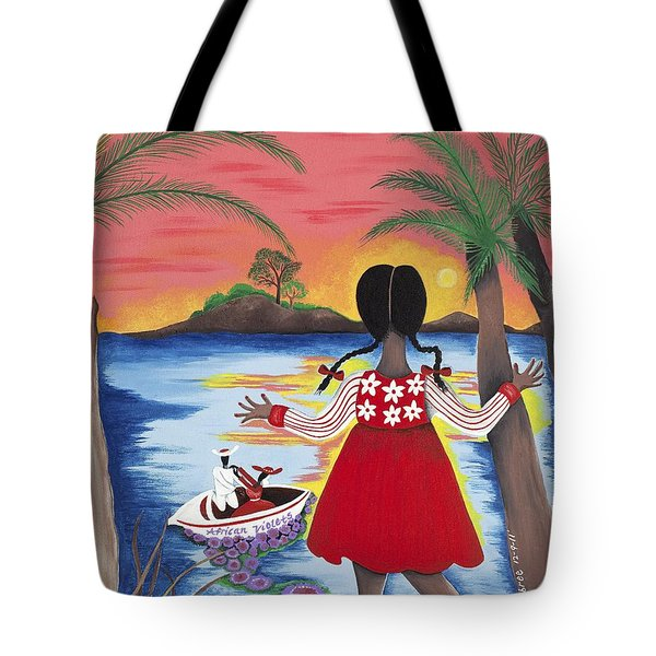 Pass The Path Tote Bag by Patricia Sabree