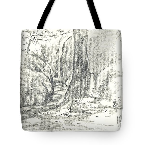 Passageway at Elephant Rocks Tote Bag by Kip DeVore