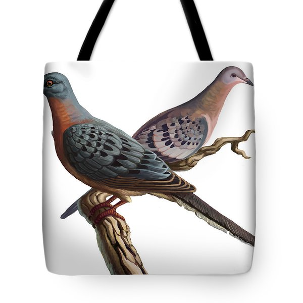 Passenger Pigeon Tote Bag by Spencer Sutton