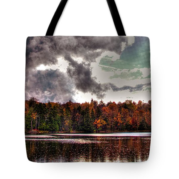 Passing Storm over Cary Lake Tote Bag by David Patterson