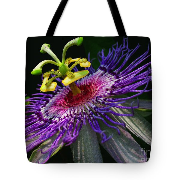 Passion Flower Tote Bag by Douglas Stucky