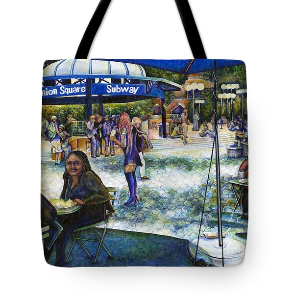 Passionate People Playing In The Park Tote Bag by Gaye Elise Beda