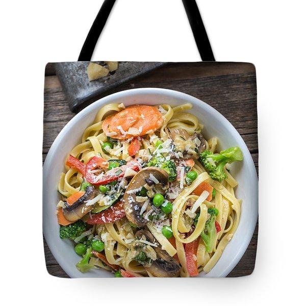 Pasta Primavera Dish Tote Bag by Edward Fielding