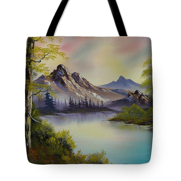 Pastel Skies Tote Bag by C Steele