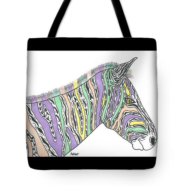 Pastel Zebra  Tote Bag by Susie Weber