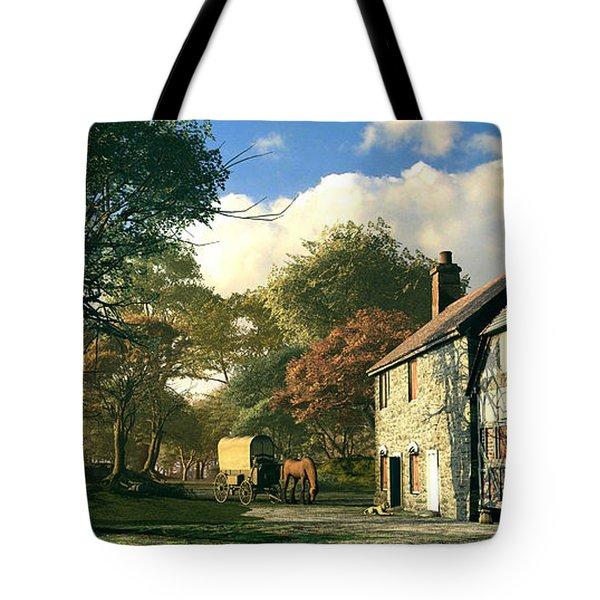 Pastoral Homestead Tote Bag by Dominic Davison