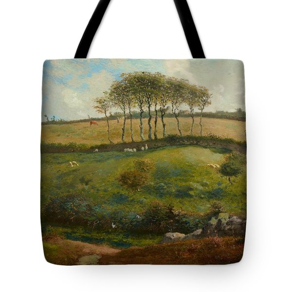 Pasture Near Cherbourg Tote Bag by Jean-Francois Millet