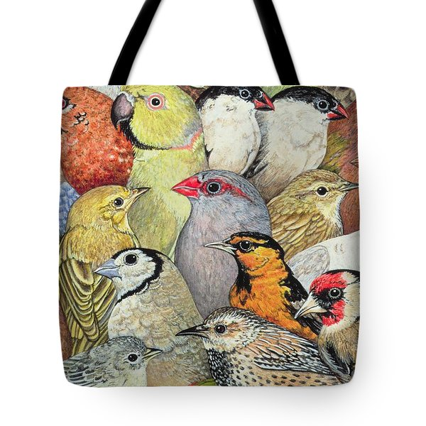Patchwork Birds Tote Bag by Ditz