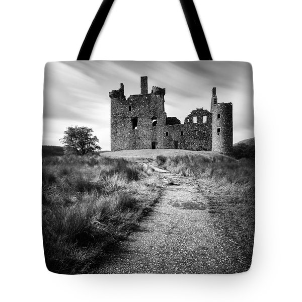 Path to Kilchurn Castle Tote Bag by Dave Bowman