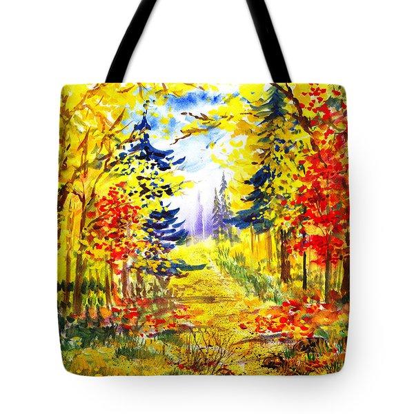 Path To The Fall Tote Bag by Irina Sztukowski