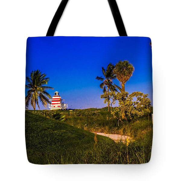 Pathway To The Beach Tote Bag by Rene Triay Photography