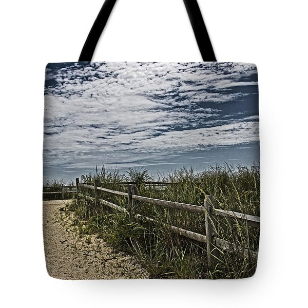 Pathway To The Sea Tote Bag by Tom Gari Gallery-Three-Photography
