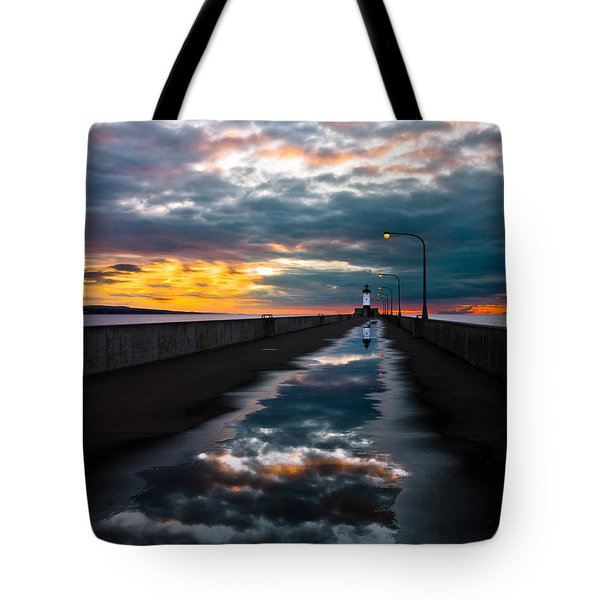 Pathway To The Sun Tote Bag by Mary Amerman