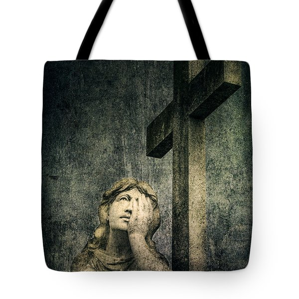 Patience In Pain Tote Bag by Andrew Paranavitana