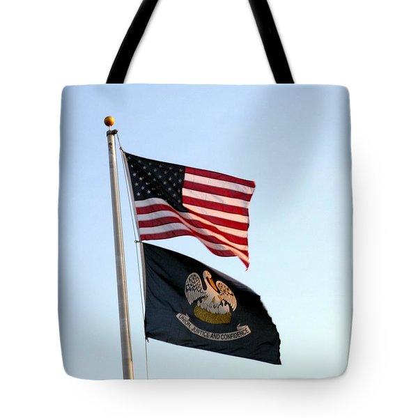 Patriotic Flags Tote Bag by Joseph Baril