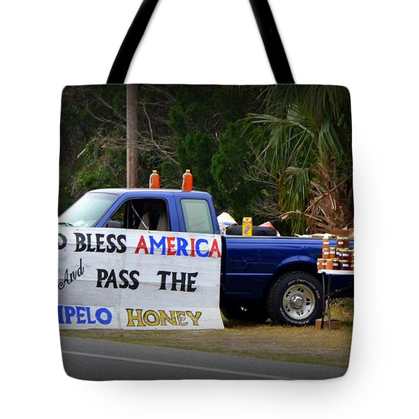 Patriotic Honey Salesman Tote Bag by Carla Parris