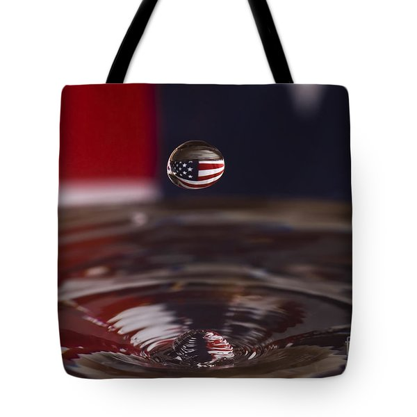 Patriotic Water Drop Tote Bag by Anthony Sacco
