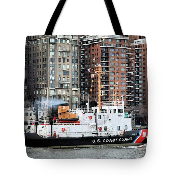 Patrolling The East River Tote Bag by JC Findley