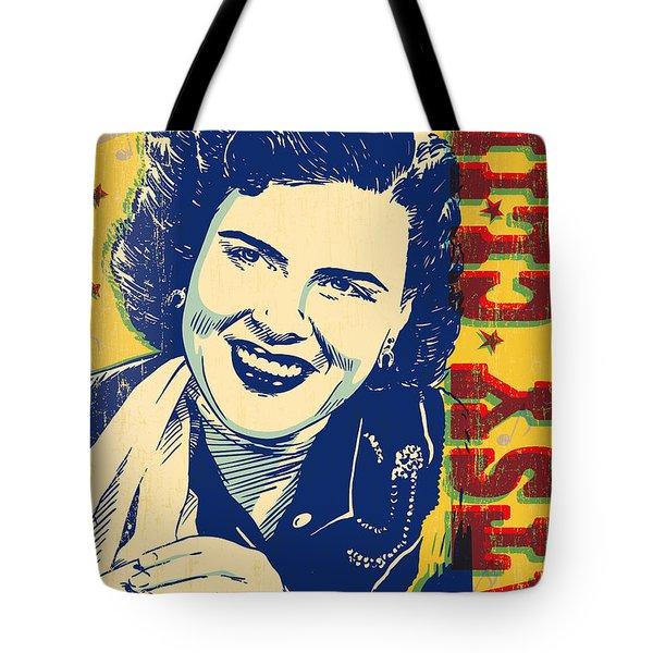Patsy Cline Pop Art Tote Bag by Jim Zahniser