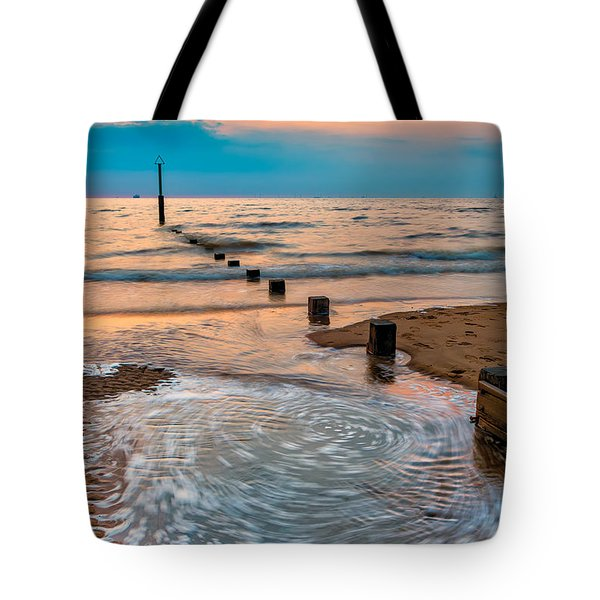 Patterns On The Beach  Tote Bag by Adrian Evans