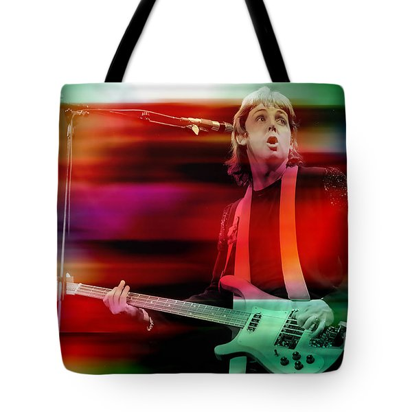 Paul Mccartney Then And Now Tote Bag by Marvin Blaine