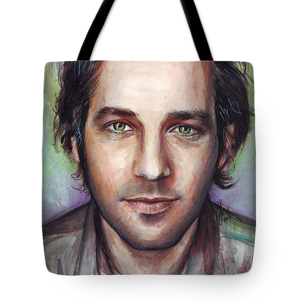 Paul Rudd Portrait Tote Bag by Olga Shvartsur