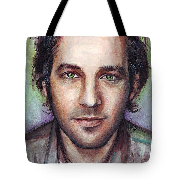 Paul Rudd Portrait Tote Bag by Olga Shvartsur