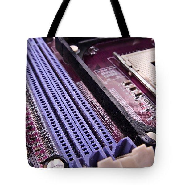 Pc Motherboard Tote Bag by Jose Elias - Sofia Pereira