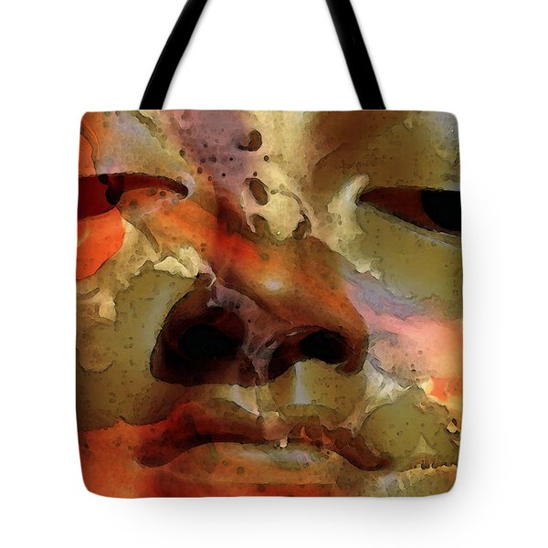 Peace Buddha - Spiritual Art Tote Bag by Sharon Cummings