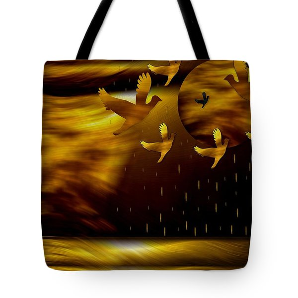 Peace Doves In The Desert Tote Bag by Pepita Selles