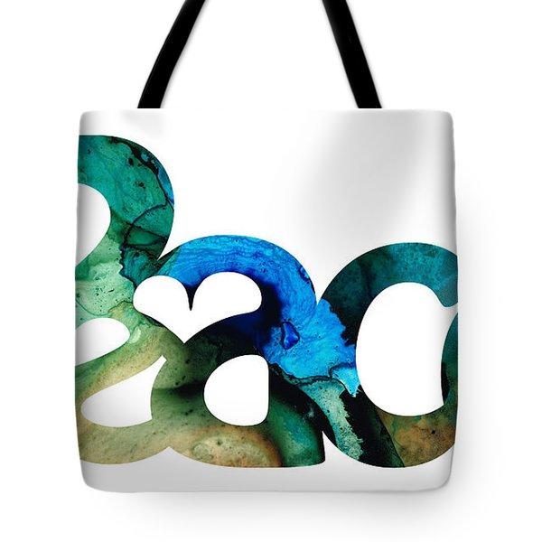 Peace Full 13 Tote Bag by Sharon Cummings