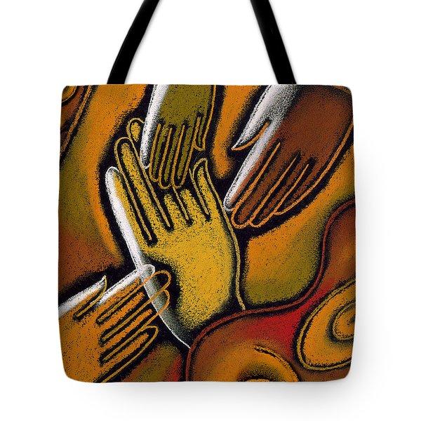 Peace Tote Bag by Leon Zernitsky