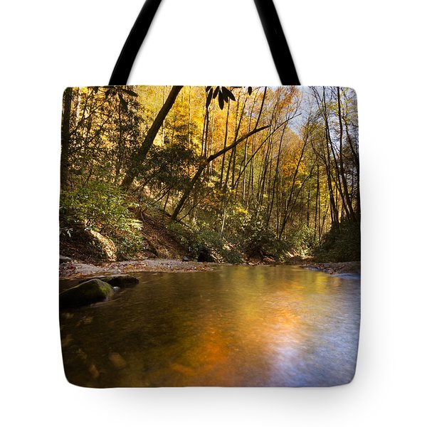 Peace Like A River Tote Bag by Debra and Dave Vanderlaan