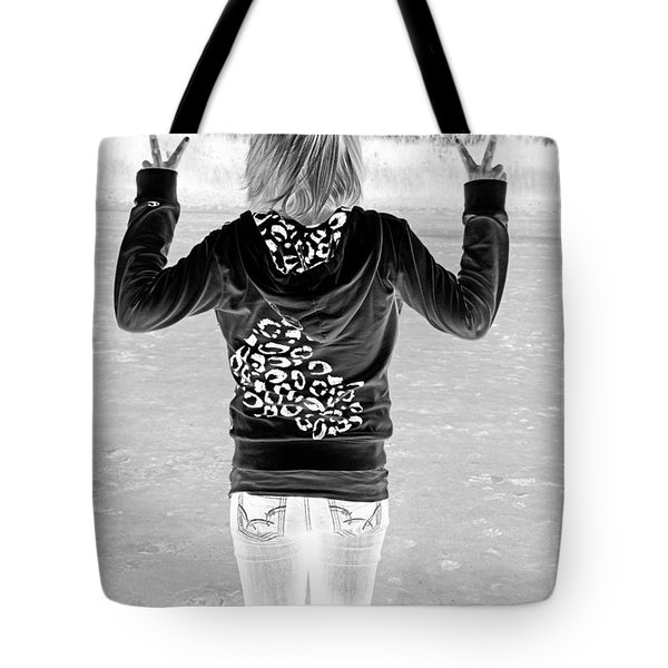Peace Tote Bag by Lori Frostad