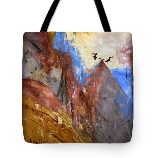 Peace Love And Joy Tote Bag by Anthony Falbo