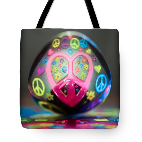 Peace Love Spoon Tote Bag by Aaron Aldrich