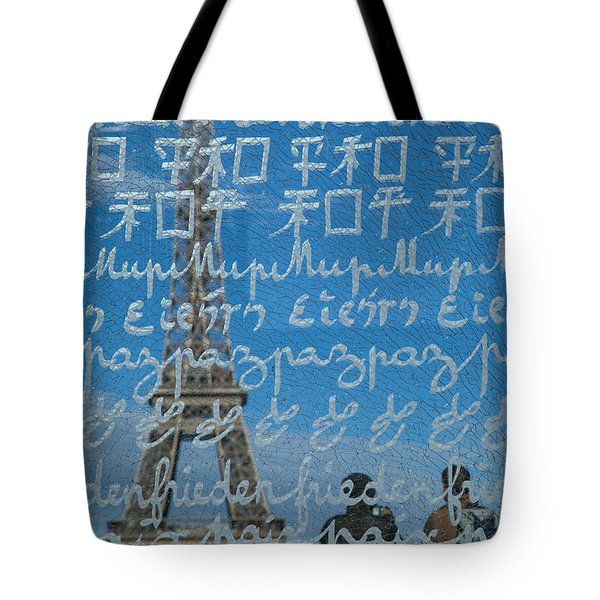 Peace Memorial Paris Tote Bag by Brian Jannsen