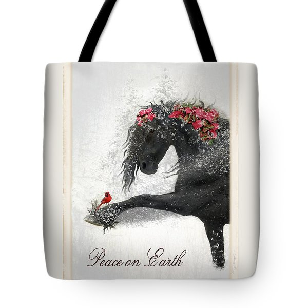 Peace On Earth Tote Bag by Fran J Scott