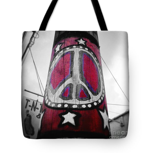 Peace Pole Tote Bag by Scott Pellegrin
