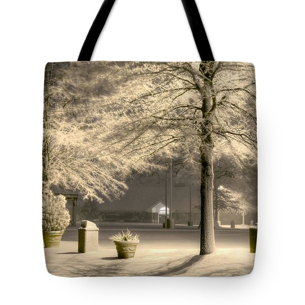 Peaceful Blizzard Tote Bag by JC Findley